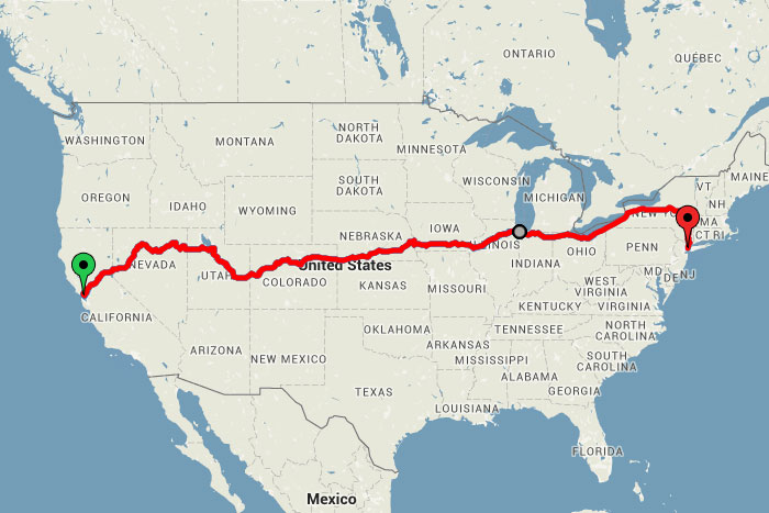 Map Of California Zephyr Route.Across The Usa By Train For Just 186