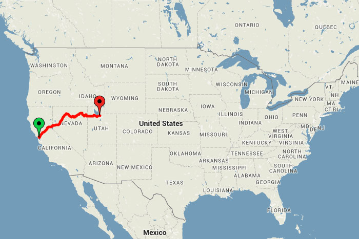 Across The USA By Train For Just - Map of us east of mississippi river